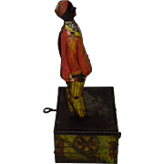 "Louis Marx ""Somstepa Coon Jigger"" Dancing Wind Up Tin Litho Toy"