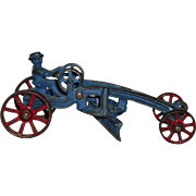Vintage Cast Iron Road Grader With Driver