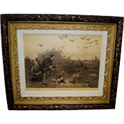 """""""The Hunter's Joy"""" Framed Print By Charles Whymper 1885"""