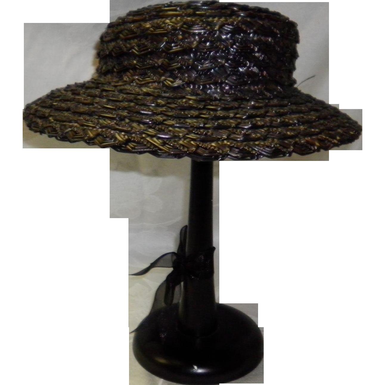 Vintage Child's / Doll Straw Hat by Jean Nedra