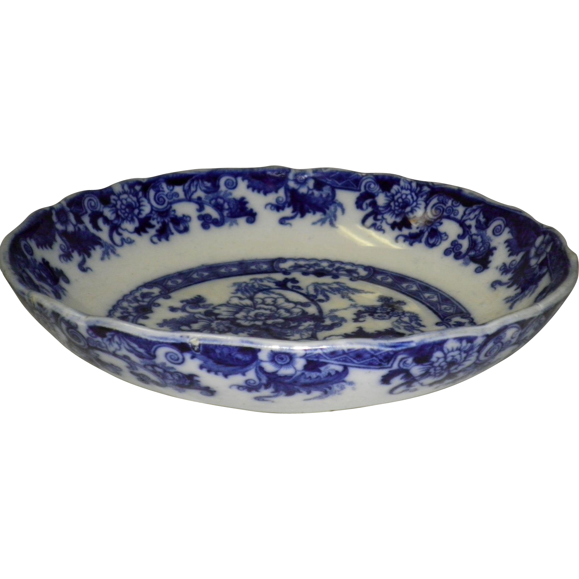 Cauldon England Flow Blue Bowl