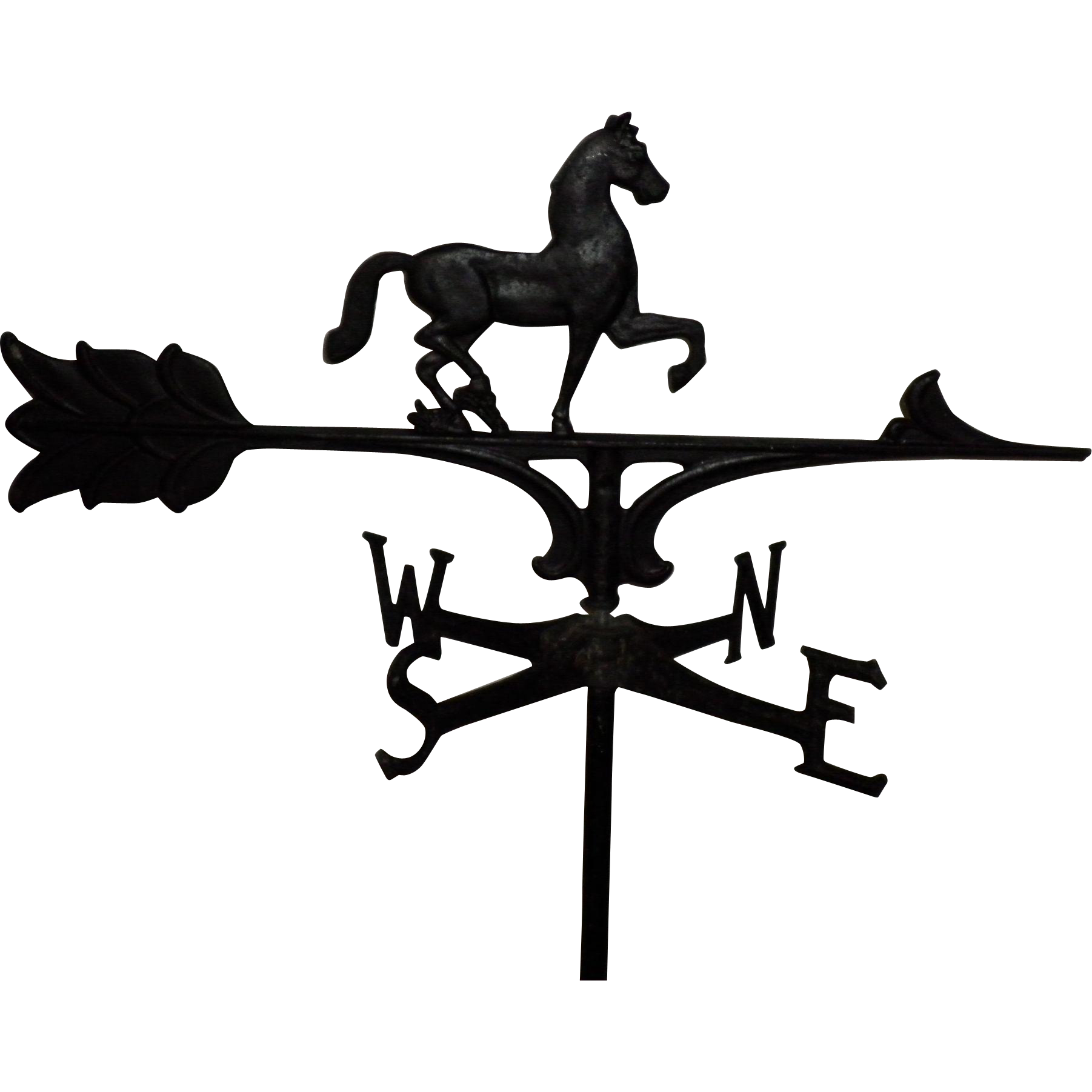 Wrought Iron Horse Weathervane