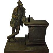 "Michael Garman Bronze Sculpture ""Bud Collins"" 1976"