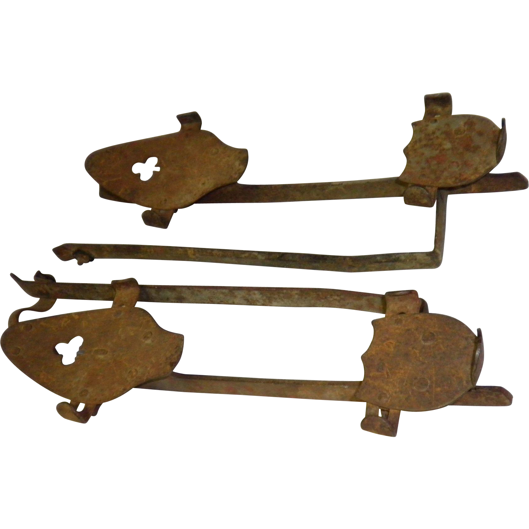 Primitive Decor Rustic Metal Ice Skates