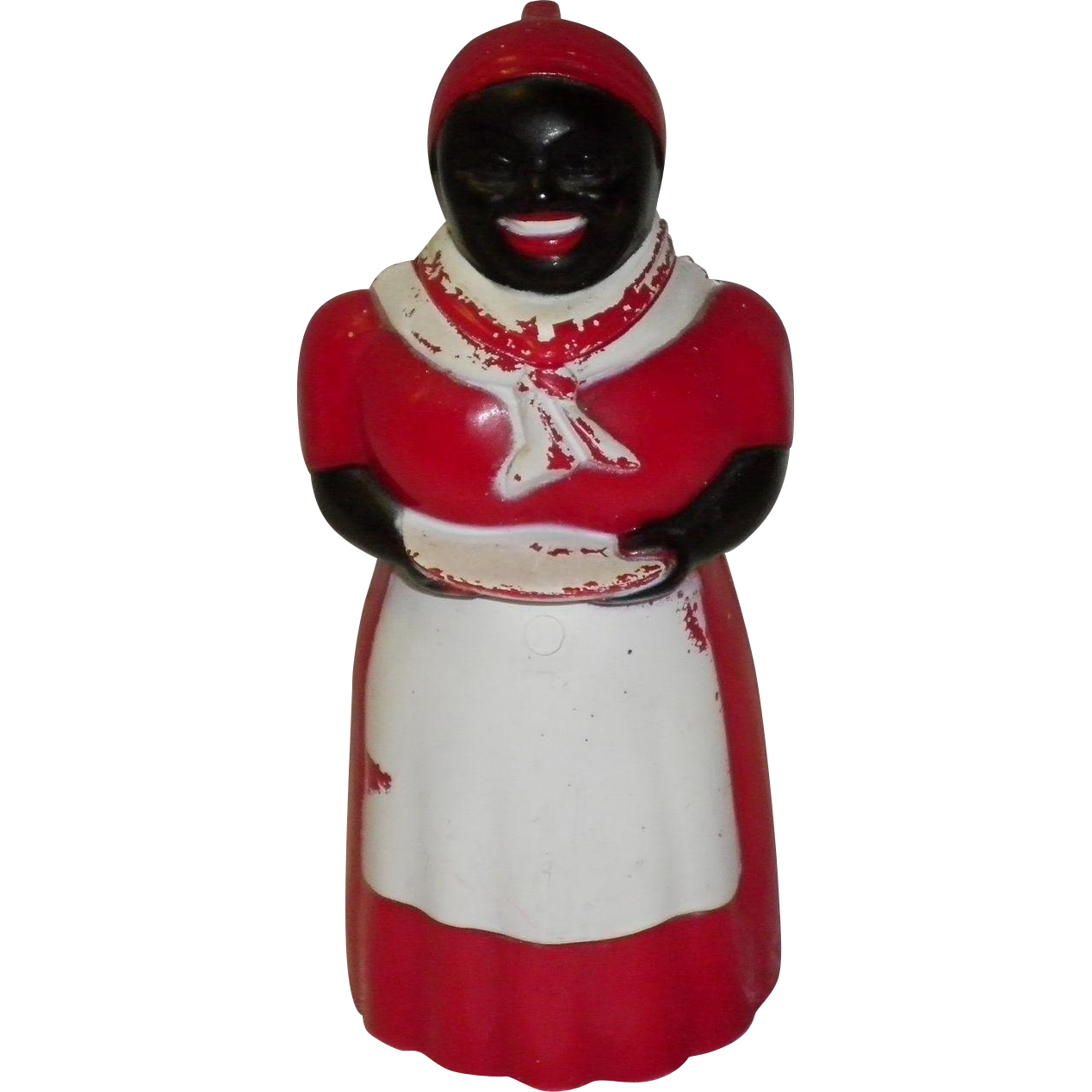 Black Americana Aunt Jemima Syrup Dispenser F & F Mold & Die Ohio USA