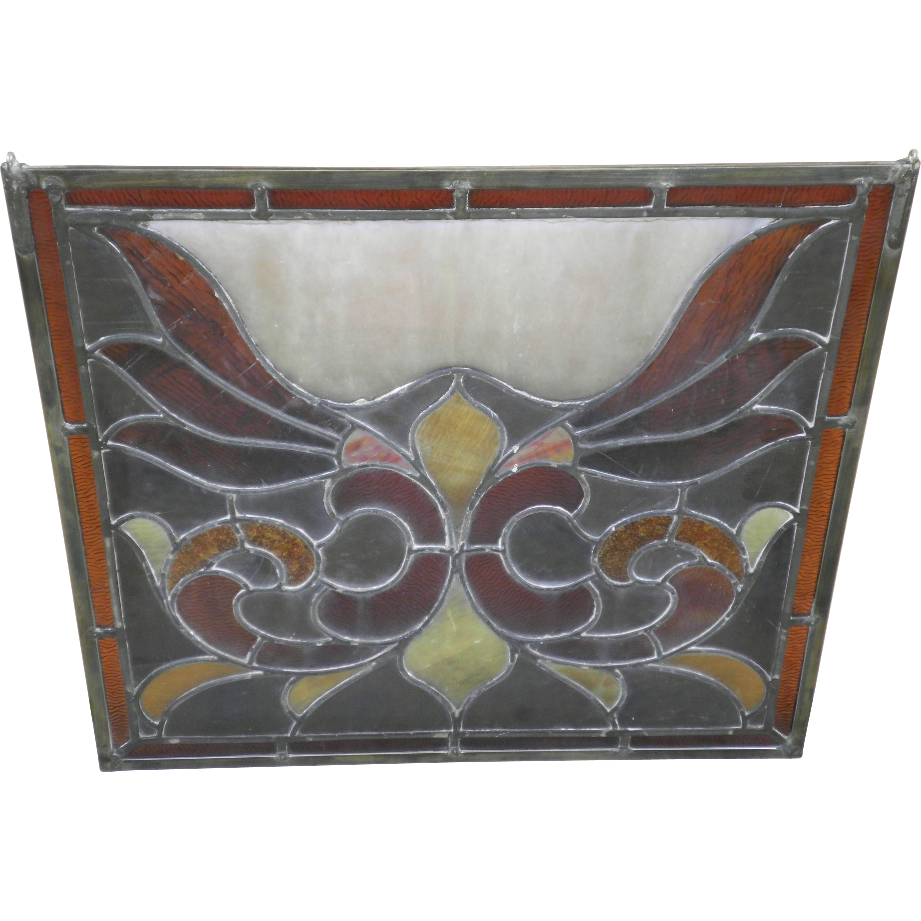 Vintage Slag Glass Transom Window Panel