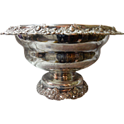 Antique 1903 Silver Plate Presentation Punch Bowl By E. G. Webster