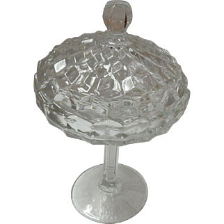 American Fostoria Compote With Lid