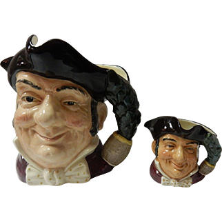2 Royal Doulton Mine Host Toby Jugs Large & Small