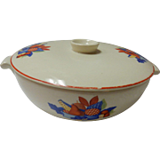 """Calico Fruit 8"""" Covered Covered Casserole Dish Universal Cambridge Pottery"""