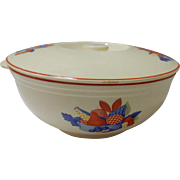 Calico Fruit Covered Covered Vegetable Bowl Universal Cambridge Pottery