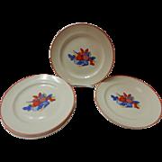 Set Of 6 Calico Fruit Dinner Plates Universal Cambridge Pottery