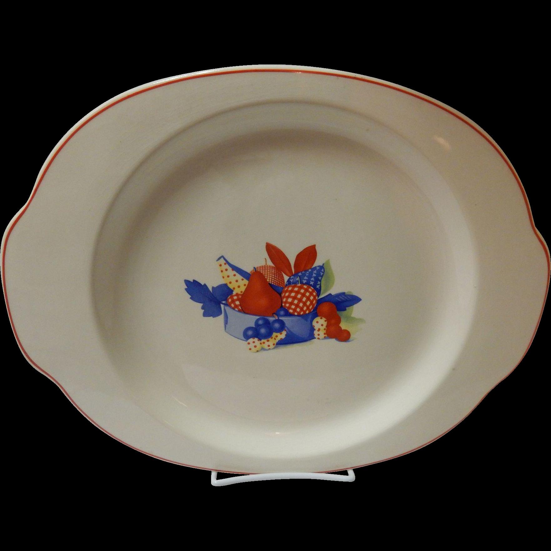 "Calico Fruit OVAL 13.5"" Platter Universal Cambridge Pottery"