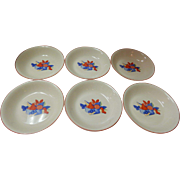 Set Of 6 Calico Fruit Soup Bowls Universal Cambridge Pottery