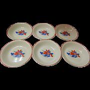 Set Of 6 Calico Fruit Soup Bowls Universal Cambridge Pottery