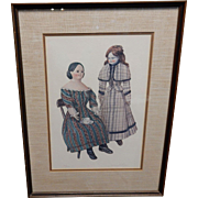 Jerome F. Ryan Bisque Doll Watercolor Signed