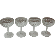 Set Of 4 American Fostoria Champagne / Tall Sherbert Glasses