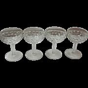 Set Of 4 American Fostoria Champagne / Tall Sherbert Glasses