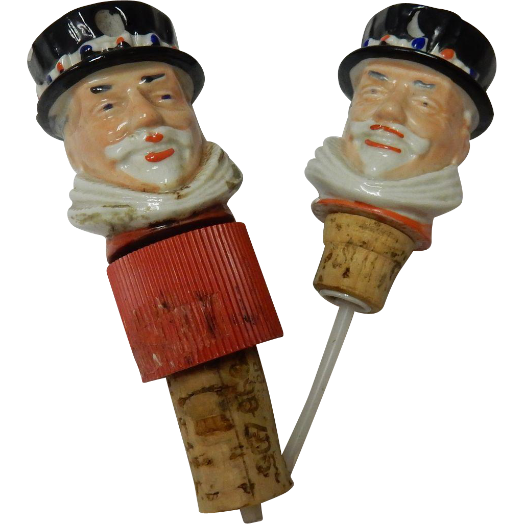 Pair Of 2 Beefeater Gin Bottle Pourer & Stopper