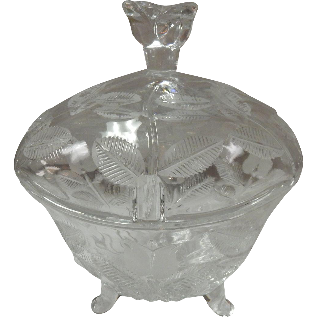 Fifth Avenue Crystal Candy Dish With Lid