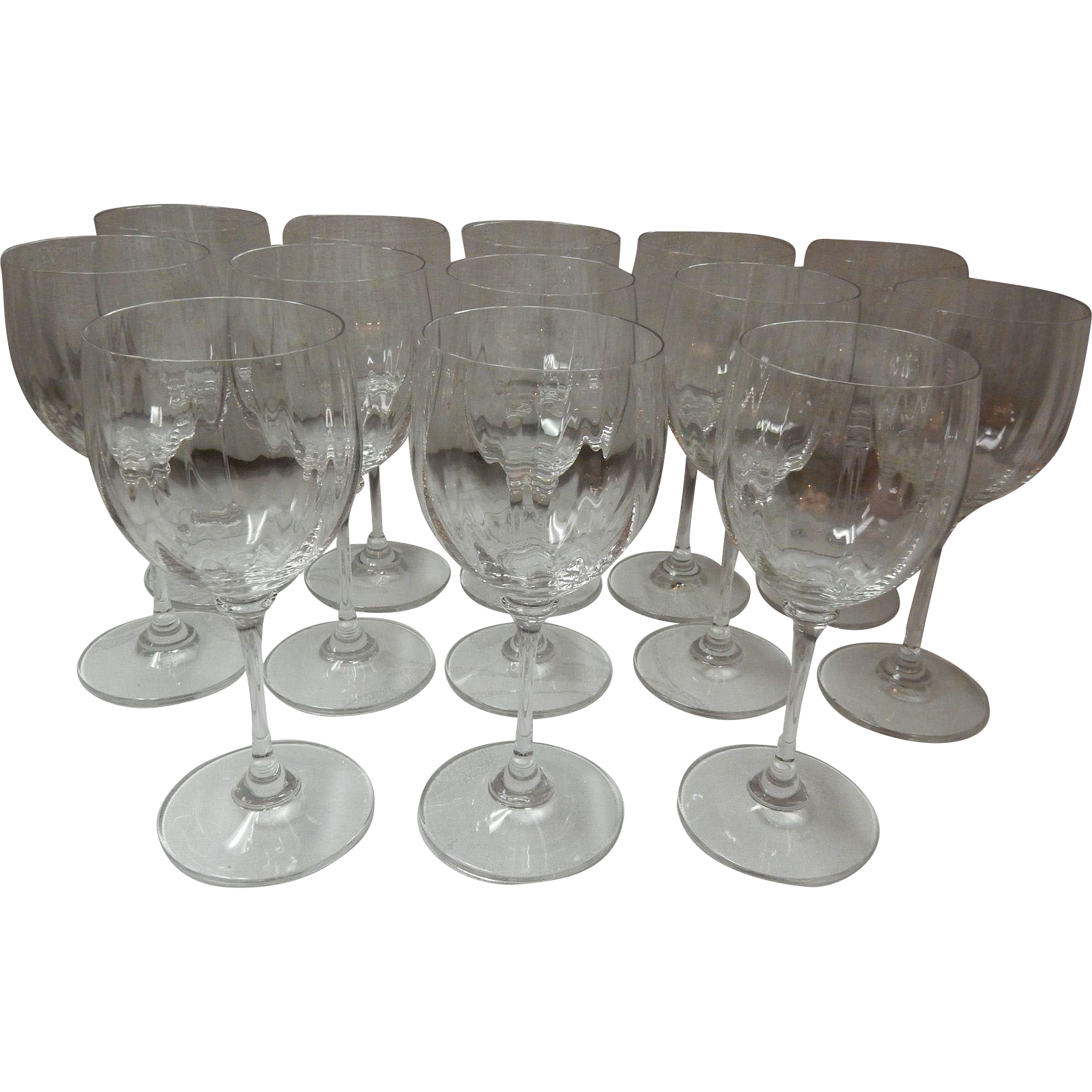 Set Of 13 Crystal Wine Glasses