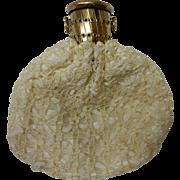 Antique Expandable Lace Over Silk Purse