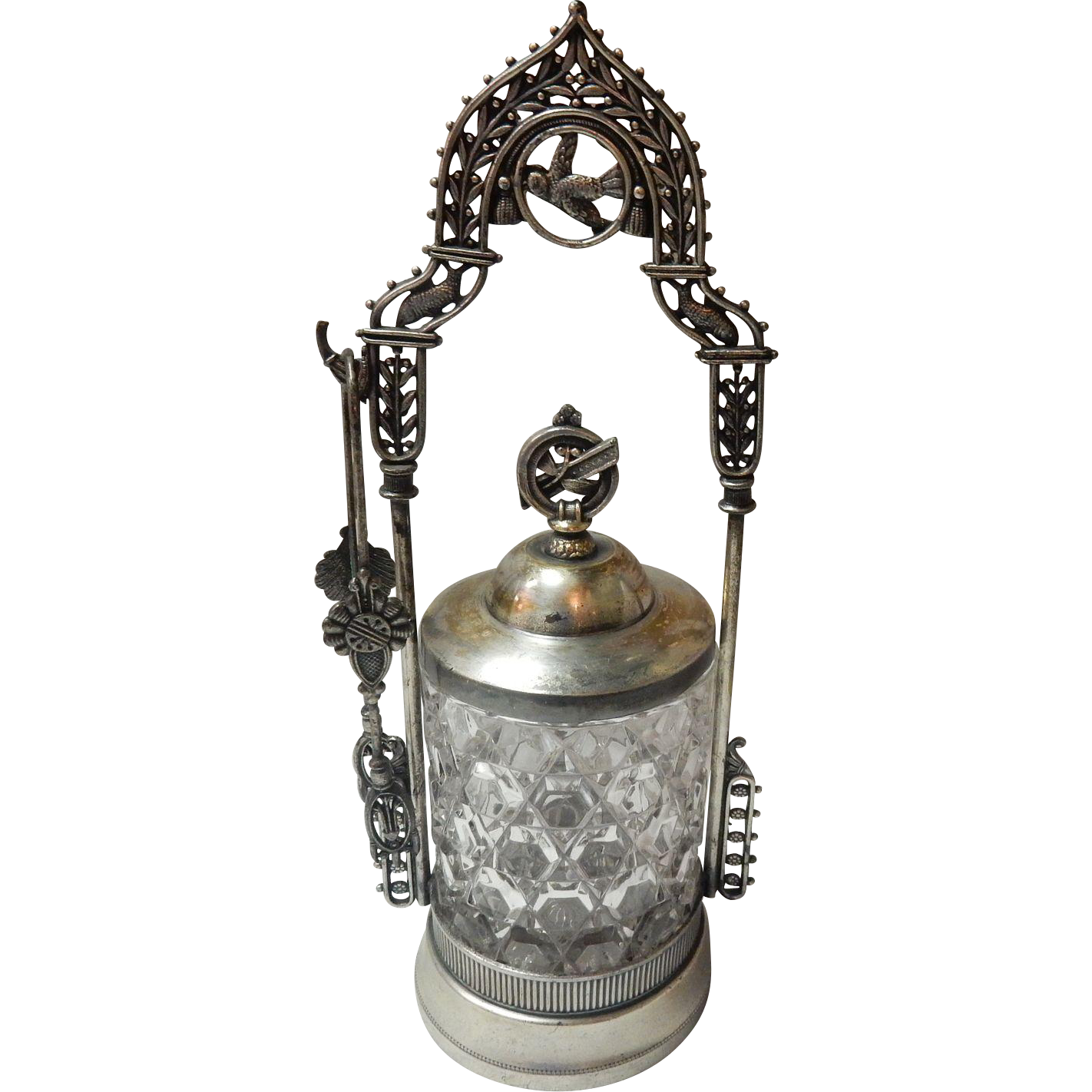 Antique Ornate Pickle Castor By Barbour Bros. Silver Co.