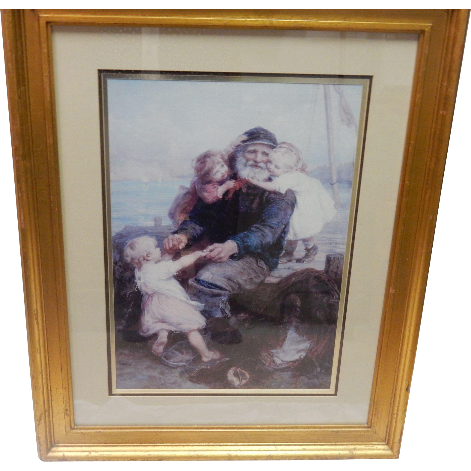 "Framed And Matted Lithograph Print ""Who Do You Love"""