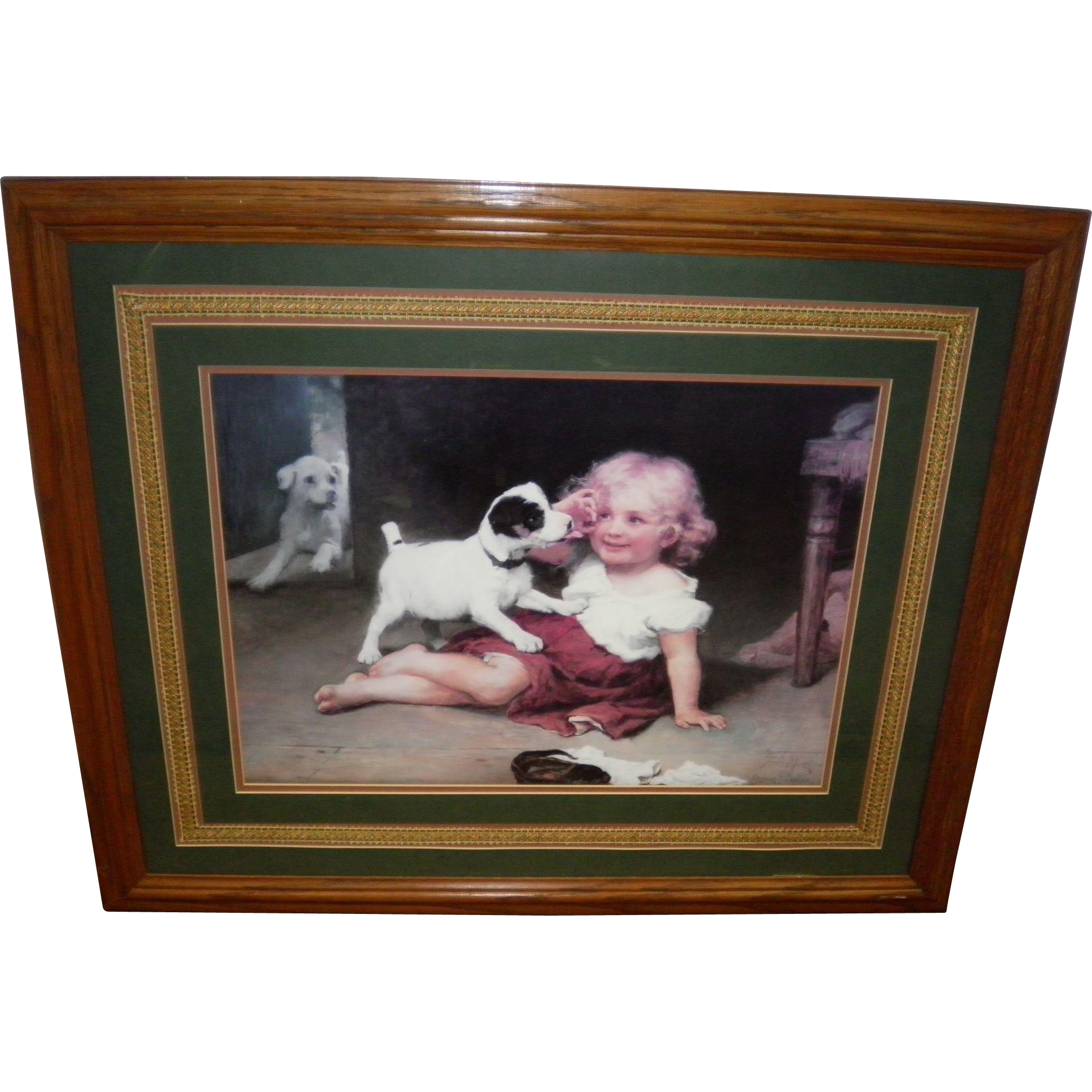 "Fred Morgan And Arthur Elsley Framed Print ""Ruff Play"""