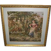 Framed And Matted Tapestry