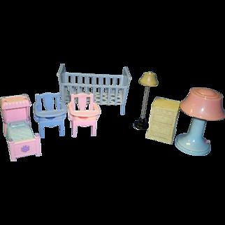 Vintage 7 pc. Dollhouse Accessary Lot
