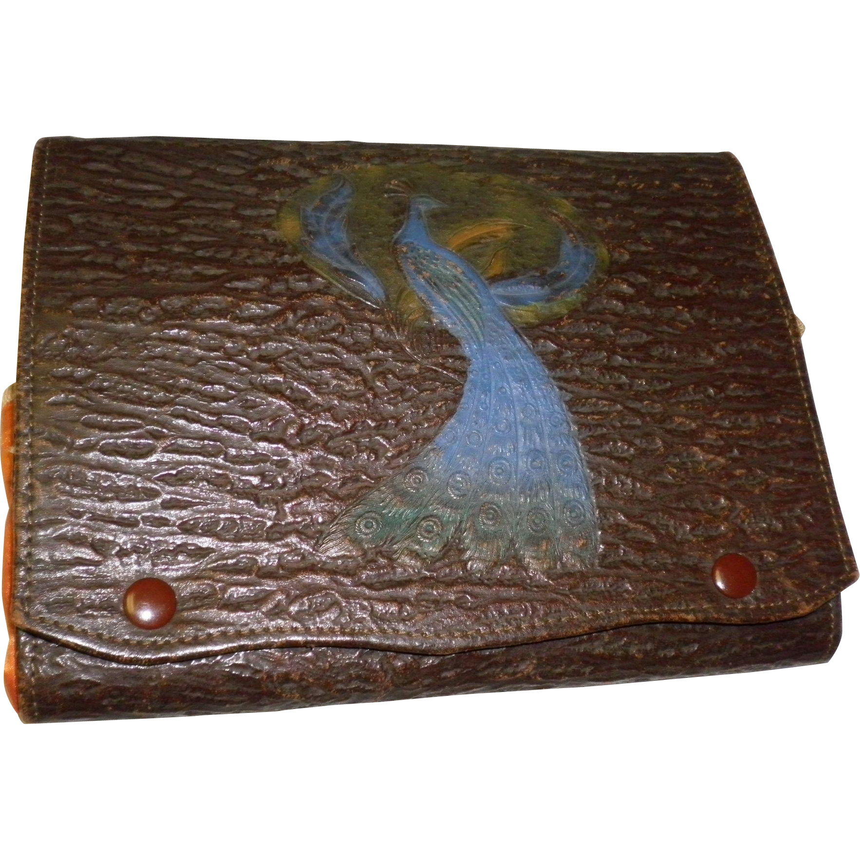 Vintage 14 Piece. Lucite Travel Manicure Set In Leather Case