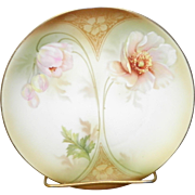 RS Germany Hand Painted Plate With A Floral Art Deco Design