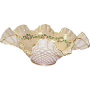 Vintage Peach Hobnail Art Glass Bowl