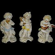 Set of 3 West German Goebel Musical Putti Cherub Figurines