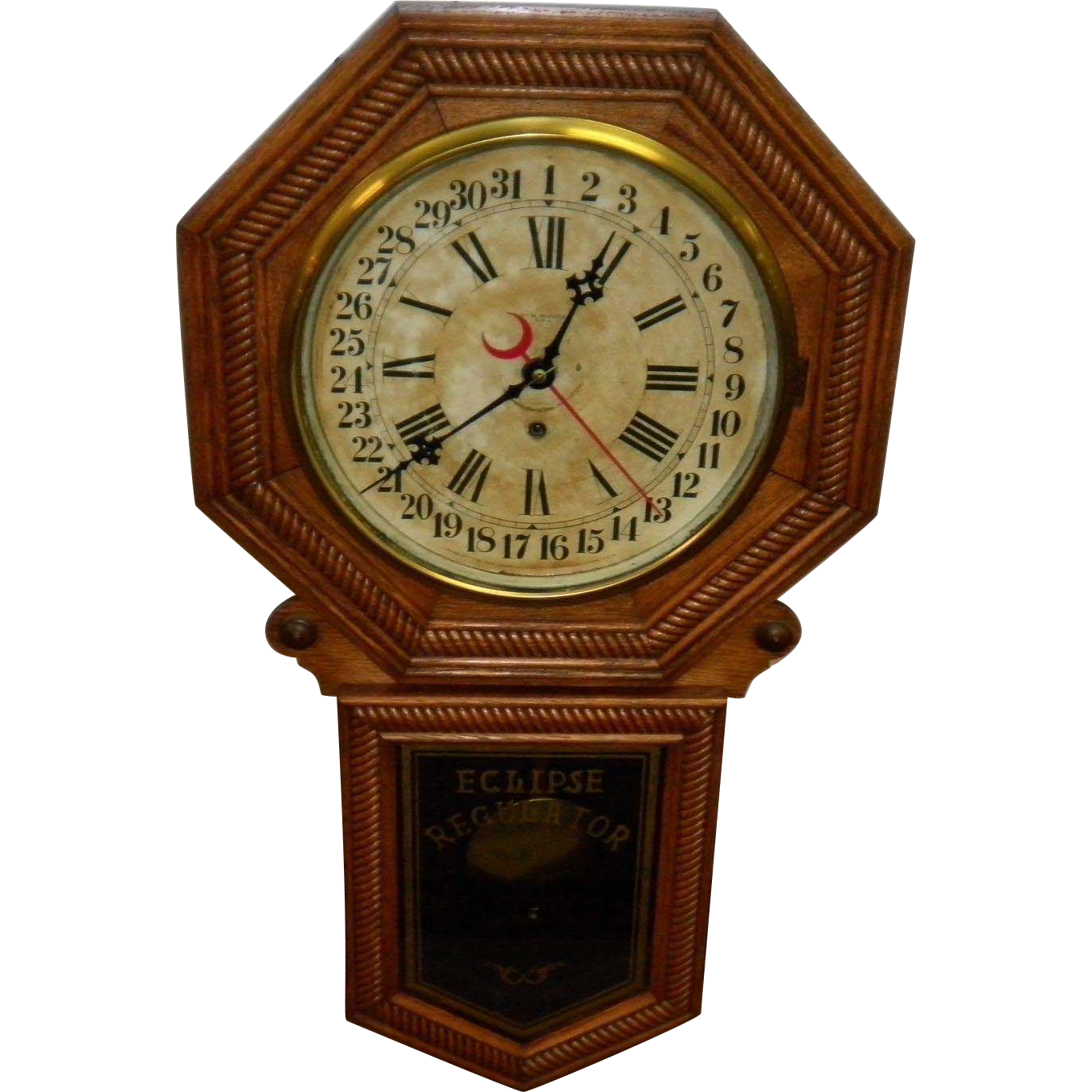 Antique new haven eclipse regulator wall clock from cameo antiques antique new haven eclipse regulator wall clock amipublicfo Image collections
