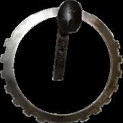 Artist Designed Handmade Industrial Metal Towel Ring
