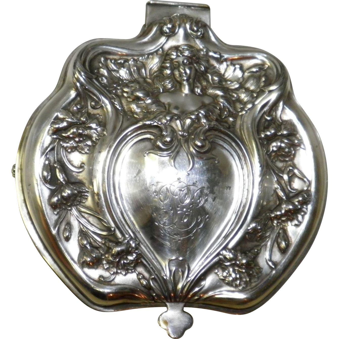 Antique Victor Silver Company Silver Quadruple Plate Jewelry Casket Box