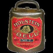 Metal Holstein No. 7 Sheep Bell by Blum MFG. Co