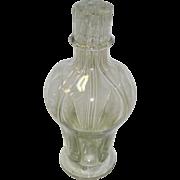 Vintage 4 Chamber Blown Glass Liquor Decanter / Bottle