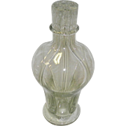 Vintage 4 Chamber Blown Glass Liquor Decanter / Bottle