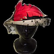 Vintage 1940's Hat By Doris Designed