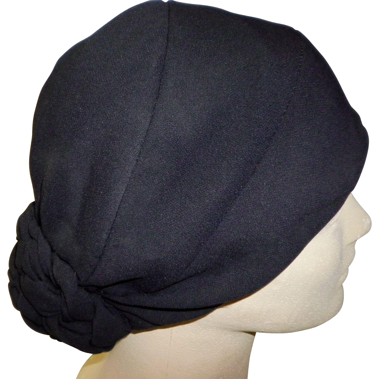 1920's Black Cloche Hat Exclusively For Borgdorf Goodman