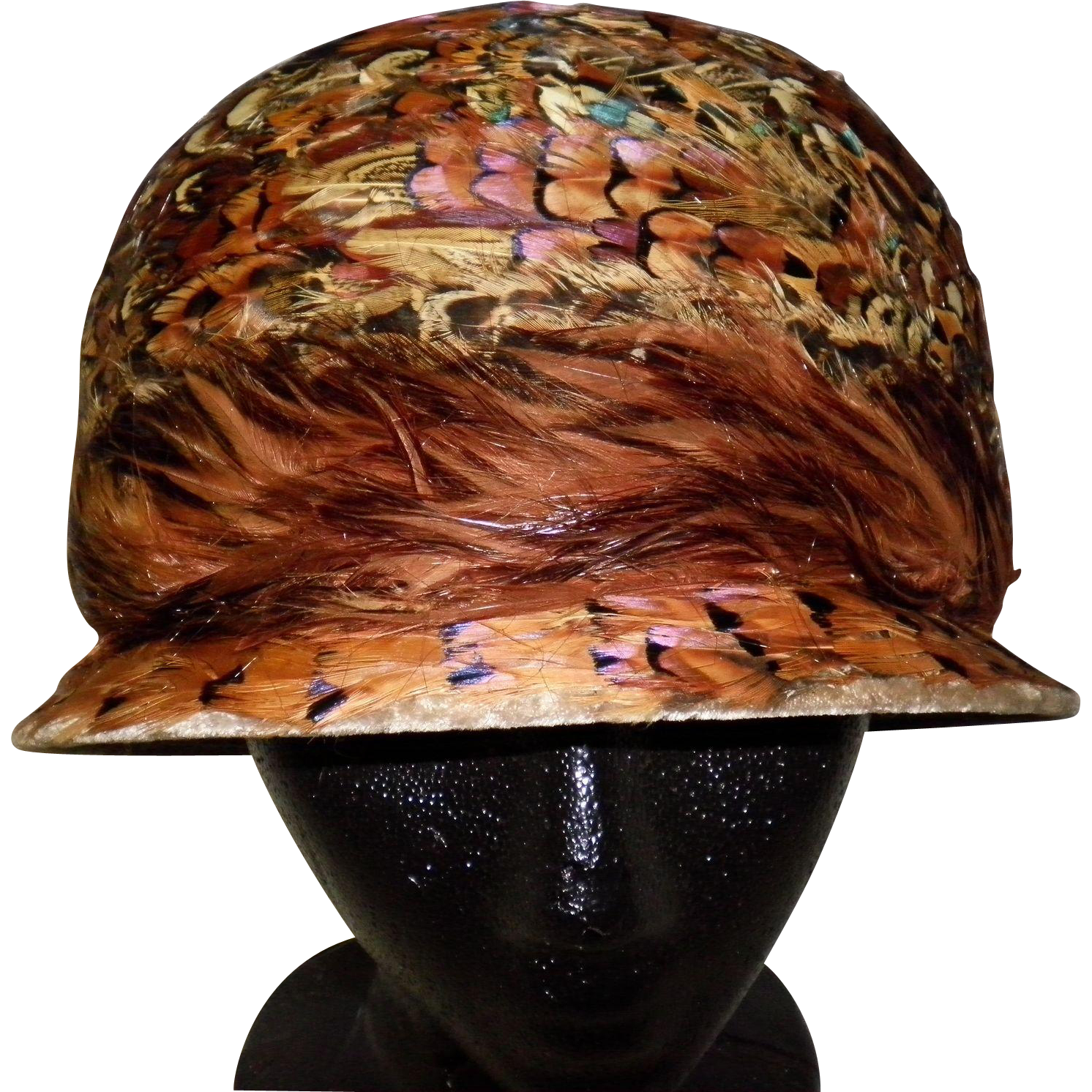Women's Vintage Sculpted Feather Hat
