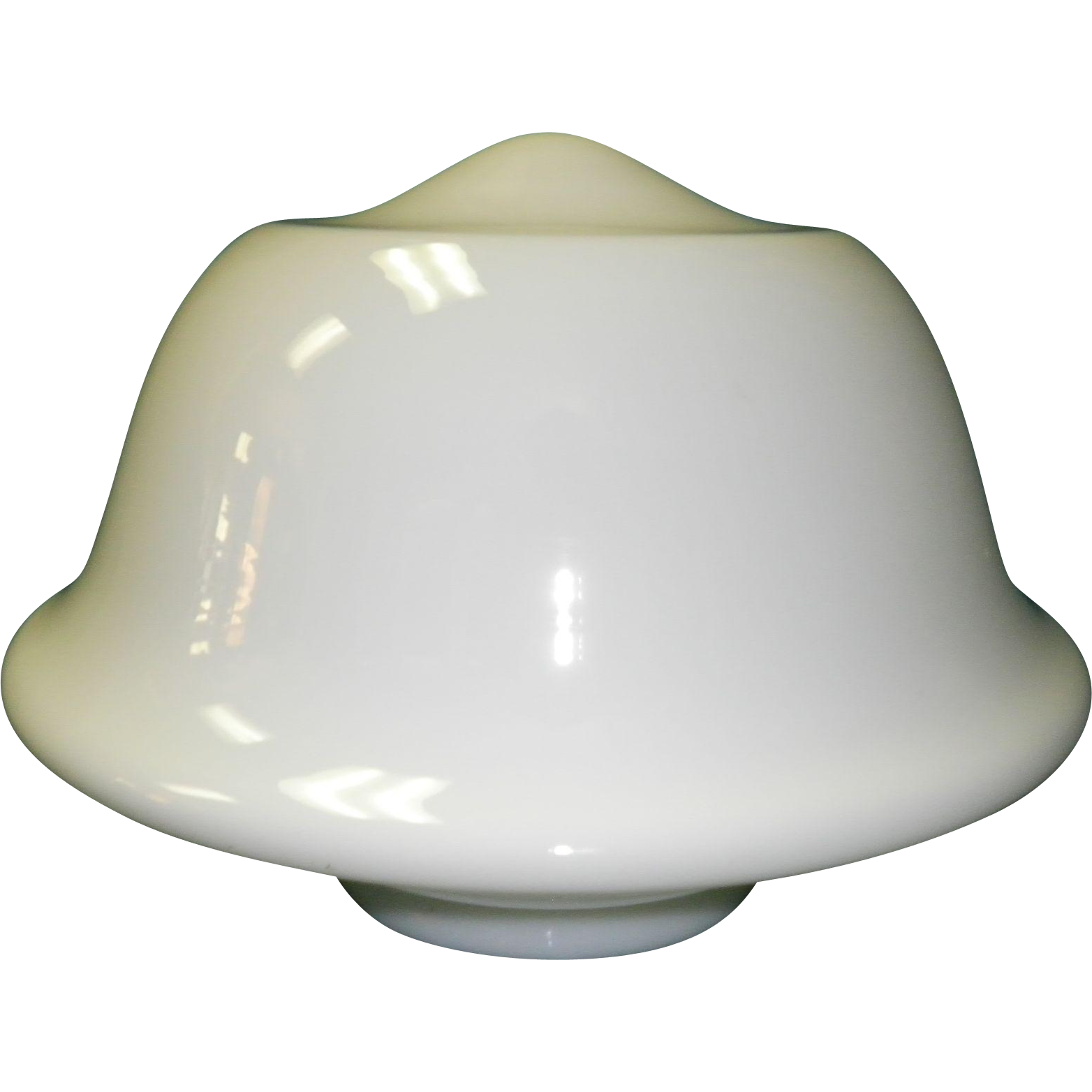 Large Vintage White Glass School House Ceiling Light Fixture Globe