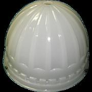 1913 Brascolite Luminous Unit  Milk Glass Industrial Light Fixture Shade Dome