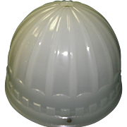 1914 Brascolite Luminous Unit Milk Glass Industrial Light Fixture Shade Dome