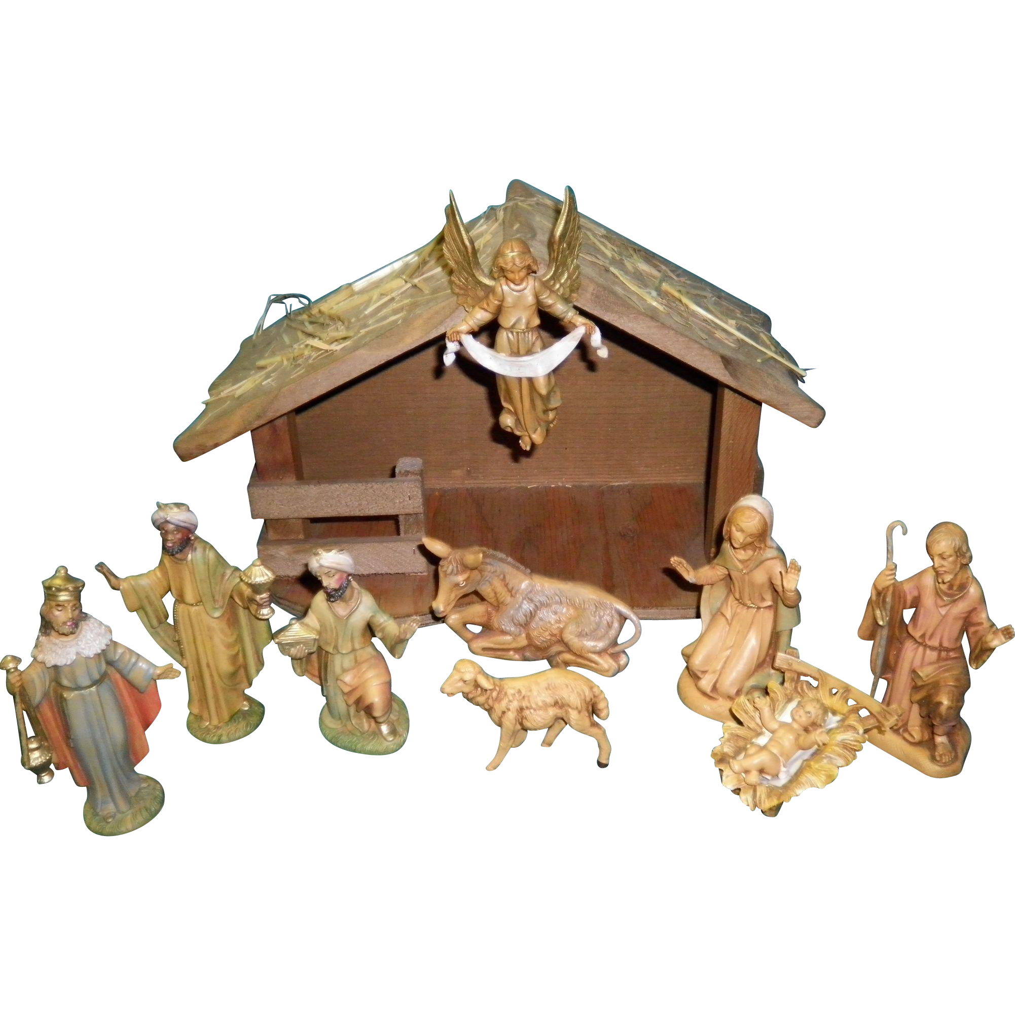 11 Piece Nativity Set Depose Italy