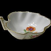 Meissen Porcelain Floral Leaf Dish