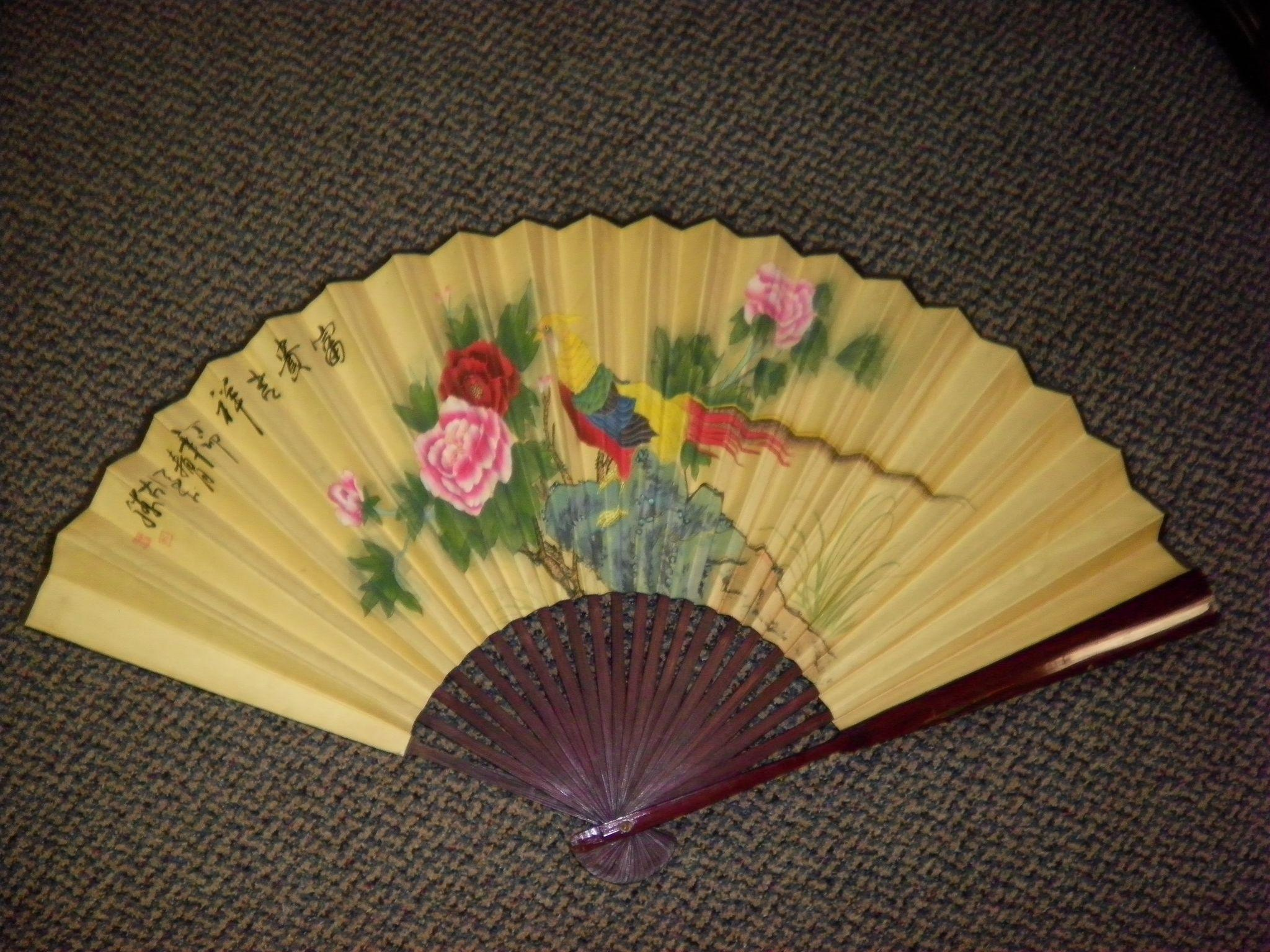 Vintage Asian / Oriental Wall Fan Decor from cameo-antiques on ...